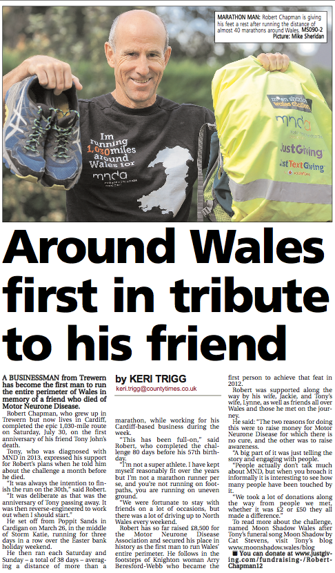 Around Wales first in tribute to his friend